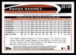 2012 Topps Update #134  Ramon Ramirez  Back Thumbnail