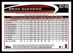 2012 Topps Update #140  Brian Duensing  Back Thumbnail
