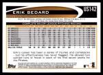 2012 Topps Update #142  Erik Bedard  Back Thumbnail