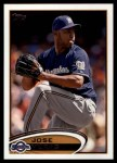 2012 Topps Update #143  Jose Veras  Front Thumbnail