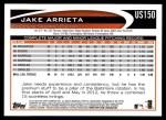 2012 Topps Update #150  Jake Arrieta  Back Thumbnail