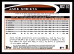 2012 Topps Update #150  Jake Arrieta  Back Thumbnail
