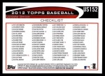 2012 Topps Update #152  Jim Thome  Back Thumbnail