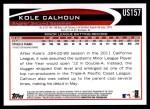 2012 Topps Update #157  Kole Calhoun  Back Thumbnail
