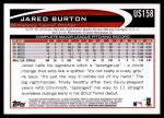 2012 Topps Update #158  Jared Burton  Back Thumbnail