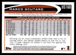 2012 Topps Update #160  Marco Scutaro  Back Thumbnail