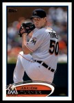 2012 Topps Update #165  Jacob Turner  Front Thumbnail