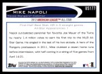 2012 Topps Update #177  Mike Napoli  Back Thumbnail