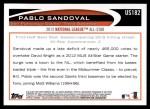 2012 Topps Update #182  Pablo Sandoval  Back Thumbnail