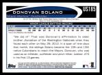 2012 Topps Update #185  Donovan Solano  Back Thumbnail