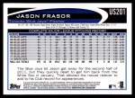 2012 Topps Update #201  Jason Frasor  Back Thumbnail