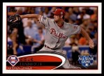2012 Topps Update #206  Cole Hamels  Front Thumbnail