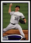 2012 Topps Update #210  Tyler Chatwood  Front Thumbnail