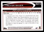 2012 Topps Update #213  Trevor Bauer  Back Thumbnail