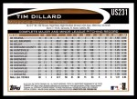 2012 Topps Update #231  Tim Dillard  Back Thumbnail