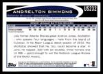 2012 Topps Update #232  Andrelton Simmons  Back Thumbnail
