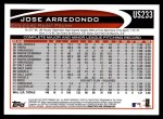 2012 Topps Update #233  Jose Arredondo  Back Thumbnail