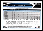 2012 Topps Update #234  Jeff Keppinger  Back Thumbnail