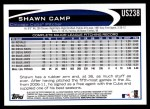 2012 Topps Update #238  Shawn Camp  Back Thumbnail