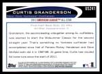 2012 Topps Update #241  Curtis Granderson  Back Thumbnail