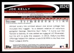 2012 Topps Update #242  Joe Kelly  Back Thumbnail