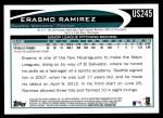 2012 Topps Update #245  Erasmo Ramirez  Back Thumbnail