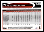 2012 Topps Update #248  Felix Doubront  Back Thumbnail