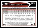 2012 Topps Update #251  Kyle McClellan  Back Thumbnail