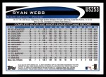2012 Topps Update #253  Ryan Webb  Back Thumbnail