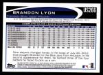 2012 Topps Update #266  Brandon Lyon  Back Thumbnail