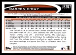2012 Topps Update #267  Darren O'Day  Back Thumbnail
