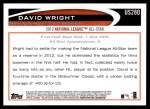 2012 Topps Update #280  David Wright  Back Thumbnail