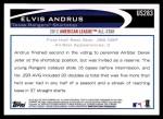 2012 Topps Update #283  Elvis Andrus  Back Thumbnail