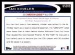2012 Topps Update #285  Ian Kinsler  Back Thumbnail