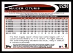 2012 Topps Update #288  Maicer Izturis  Back Thumbnail