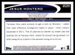 2012 Topps Update #291  Jesus Montero  Back Thumbnail