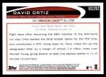 2012 Topps Update #292  David Ortiz  Back Thumbnail