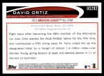 2012 Topps Update #292  David Ortiz  Back Thumbnail