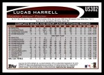 2012 Topps Update #302  Lucas Harrell  Back Thumbnail