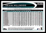 2012 Topps Update #303  Kevin Millwood  Back Thumbnail