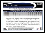 2012 Topps Update #304  A.J. Ellis  Back Thumbnail