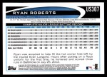 2012 Topps Update #307  Ryan Roberts  Back Thumbnail
