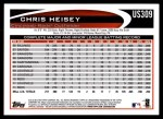 2012 Topps Update #309  Chris Heisey  Back Thumbnail