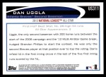 2012 Topps Update #311  Dan Uggla  Back Thumbnail