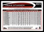 2012 Topps Update #312  Craig Stammen  Back Thumbnail