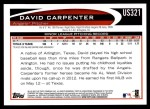 2012 Topps Update #321  David Carpenter  Back Thumbnail