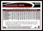 2012 Topps Update #323  Fernando Abad  Back Thumbnail