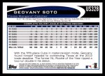 2012 Topps Update #328  Geovany Soto  Back Thumbnail