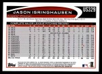 2012 Topps Update #329  Jason Isringhausen  Back Thumbnail