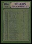 1982 Topps #666   -  Dan Petry / Steve Kemp Tigers Leaders Back Thumbnail